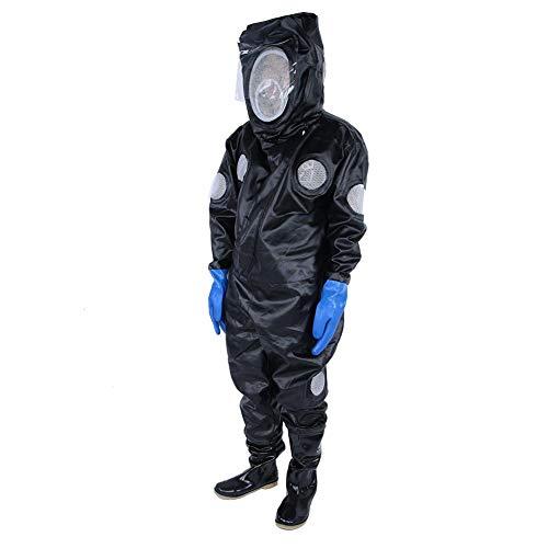 Duokon Imkerei-Anzug, Imkerei-Uniform-Ausrüstung Anti-Bienen-Kleidung mit Schutzstiefeln Handschuhe Brillenschutz Imkerei-Schleier Kittel Imker-Anzug -