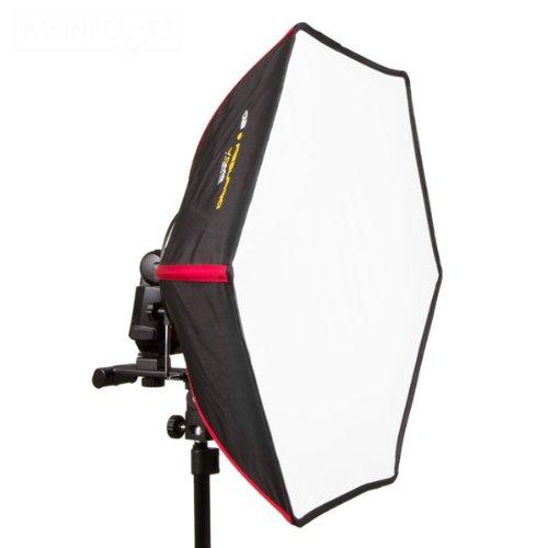 SMDV D40 Firefly Pro Beauty Softbox Diffuser (Leuchtfläche 40 cm) für Blitzgeräte schwarz/rot