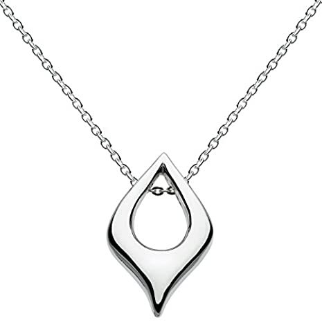 Kit Heath Ladies' Sterling Silver 90ELHP Organic Teardrop Pendant & Chain