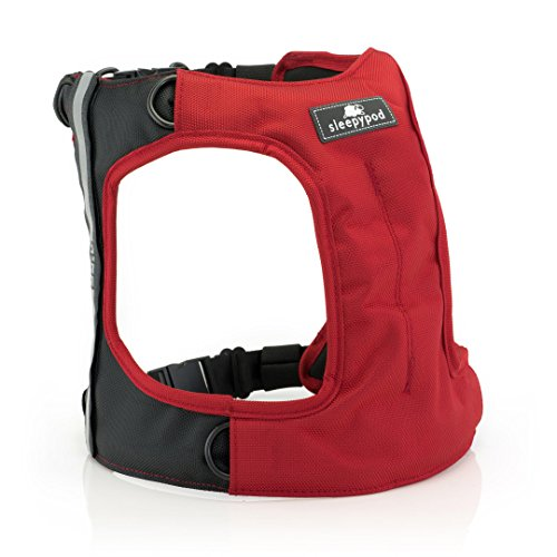 Sleepypod Clickit TERRAIN Auto-Sicherheitsgurt Sicherheitsgurtgeschirr für Hunde (L, Strawberry Red)