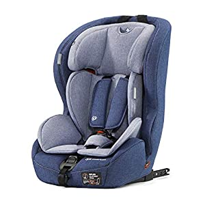 Kinderkraft Car Seat Safety FIX Child's Combination Booster Seat with ISOFIX and Top Tether Group I/II/III (9-36kg) to Approx. 12 Years Safety Certificate ECE R44/04 Navy   9