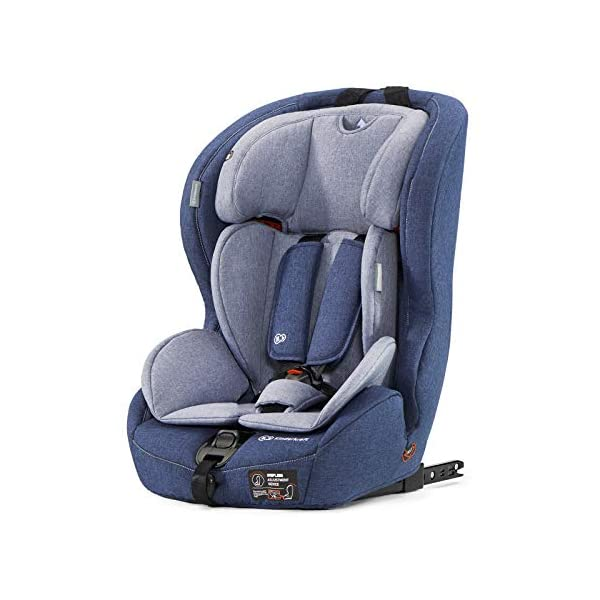 Kinderkraft Car Seat Safety FIX Child's Combination Booster Seat with ISOFIX and Top Tether Group I/II/III (9-36kg) to Approx. 12 Years Safety Certificate ECE R44/04 Navy kk KinderKraft Car Seat - The Safety-Fix car seat grows together with your child. Secure - Equipped with fixing system ISOFIX + Top tether, which guarantees a stable and safe position for your child. Comfort - Hight adjustable 5-point internal harness and 10-step adjustment headrest means the seat will serve your child for years. 1