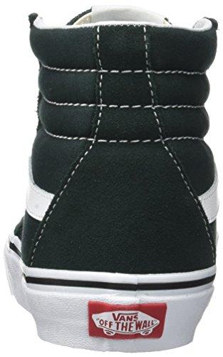 Vans Sk8-Hi Suede/Canvas, Baskets Mixte Adulte Vert (Scarab/true White)
