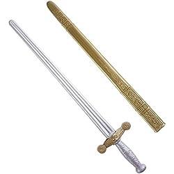 WIDMANN Caballero Espada withScabbard 75cm Espadas Novedad Juguete Armas y Armadura para Disfraces Accesorios