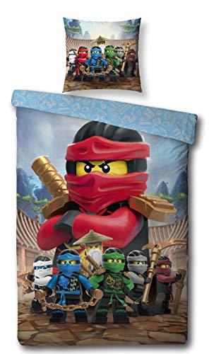 Character World Kinder Bettwäsche Set Lego Ninjago, 135x200cm + 80x80cm, Linon Baumwolle (Ninjago Red, 100{886607732cd3087e249bd510547c39581ddaf5f12ab171b0b29a86f9cafc83ce} Baumwolle Linon)