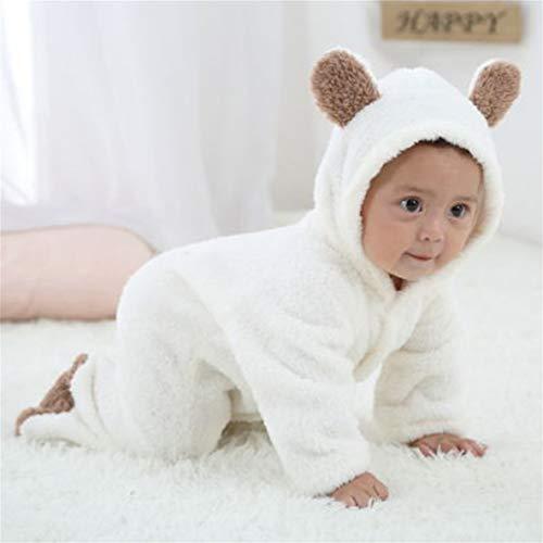 Moliies Neugeborenes Baby-Karikatur-Netter Tier Geformter Spielanzug mit Kapuze langärmelige Overalls Single Breasted Winter-Freizeit-Kleidung