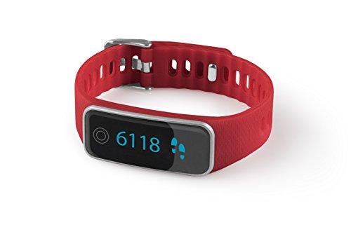 Medisana ViFit touch Aktivitätstracker 79487 mit App, Fitnessarmband mit Pulsuhr und Schlafanalyse, rot