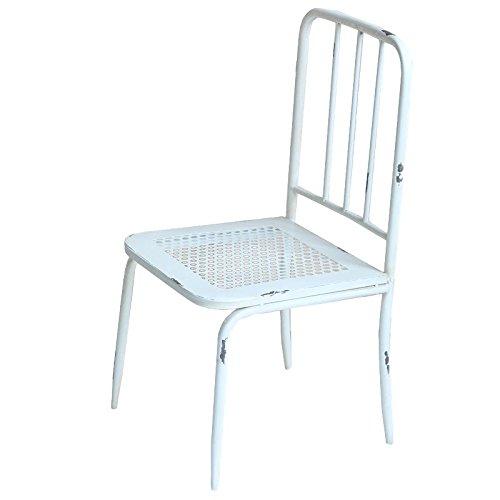 Better & Best & 1402042-Chaise de Jardin avec Dossier à barreaux-Blanc