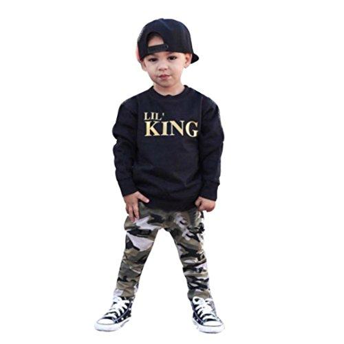 WINWINTOM Kleinkind Kinder Baby Boy Brief T-shirt Tops + Camouflage Hosen Outfits Kleidung Set (5 Jahre, (Baby Bild Boy Ideen)