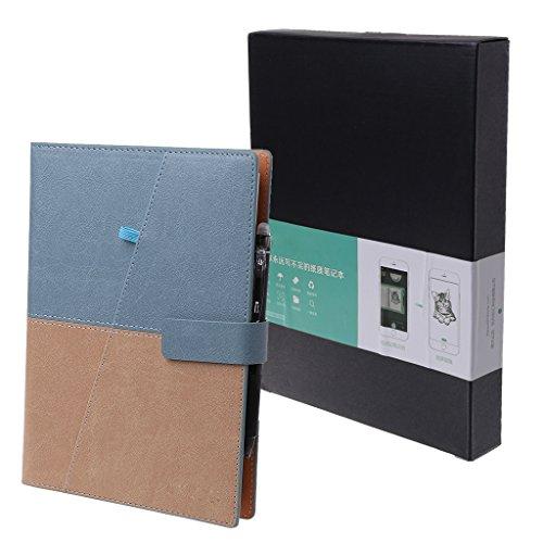 Zohong disegno cancellabile a5notebook borsa riutilizzabile smart blocco note scuola ufficio regalo, similpelle, blue, a5