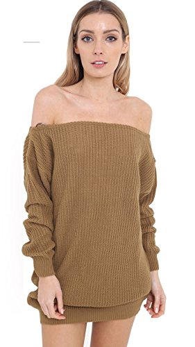 Janisramone - Pull - Pull - Manches Longues - Femme * taille unique Camel