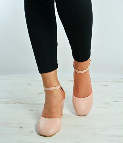 Cucu Fashion , Sandales Compensées femme Rose