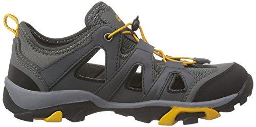 Jack WolfskinKIDS MTN ATTACK AIR - Scarpe da trekking medio Unisex – Bambini Grigio (Grau (tarmac grey 6011))