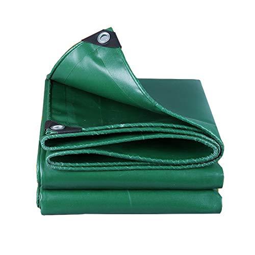 Lxla- telone in fibra di vetro addensare con occhielli telo impermeabile in tela telo antipioggia in tessuto parasole per tende da sole, 500 g/m², verde (dimensioni : 3m x 6m)