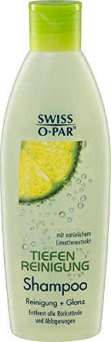 3 x Swiss-O-Par TIEFENREINIGUNG SHAMPOO für jedes Haar 250ml