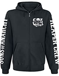Sons Of Anarchy Reaper Crew Sweat à capuche zippé noir