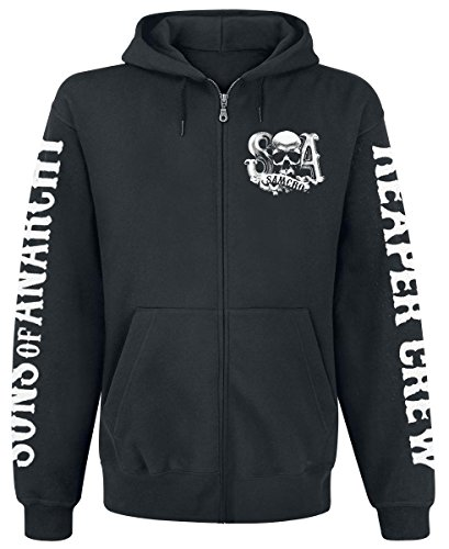 Sons Of Anarchy Reaper Crew Sudadera capucha con cremallera Negro XL