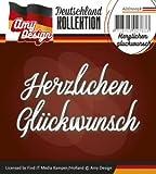 Stanzschablone - Amy Design -Text Deutsch- Herzlichen Glückwunsch