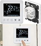 revolt Raumthermostat: Wand-Thermostat für Fußbodenheizung, LCD, Touch-Tasten, programmierbar (Funk-Heizkörperthermostat)