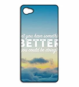 Happoz something better quote Lenovo Z2 Plus back covers Mobile Cases Phone Panel Printed Fancy Pouches Accessories Z263