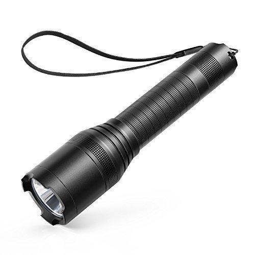Anker LC90 LED Taschenlampe, IP65 Wasserfest, Super Helle 900 Lumen CREE LED, 5 Licht Modi, Wiederaufladbare Taschenlampe mit Zoom für Camping, Wandern und Notfälle ( Inklusive 18650 Batterie )