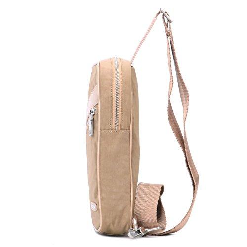 Eshow Herren Nylon Freizeit Tragbar Fashion Populär Sportliche Brusttasche Umhägentasche Taschen, Braun Braun
