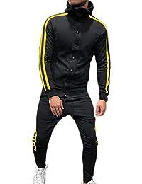 874a0030743ea Hibasing Giacca Sportiva da Uomo Felpa con Collo Alto Caldo Tuta Sportiva  Tops Pantaloni