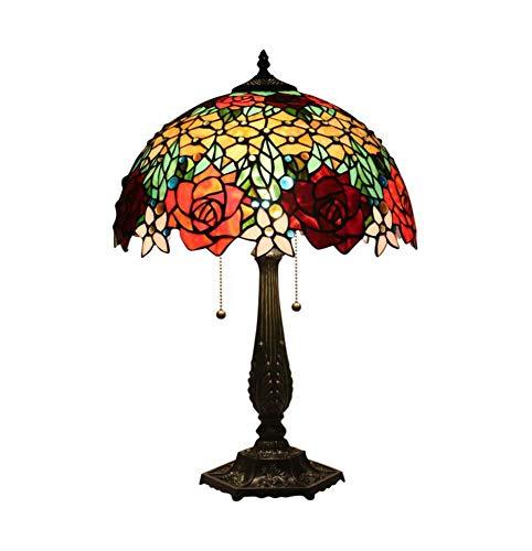 Ydyg Créatif Décoration a Chambre Style 16 Lampes Tiffany Verre Salon Chevet De Rétro Pouces En Teinté Table PXiuOkZ
