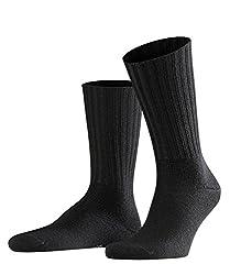 FALKE Herren Socken Nelson, Schurwollmischung, 1 Paar, Schwarz (Black 3000), Größe: 43-46