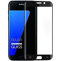 doupi 3D FullCover Premium 9H vetro temperato HD protezione dello schermo per Samsung Galaxy S7 Edge Touch Screen Protector Tempered Glass Pellicola Protettiva, nero