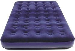 Gästebett für 2 Personen (ca. 192x134x22cm, großes Campingbett, Gästematratze) Royal-blau Velourbezug