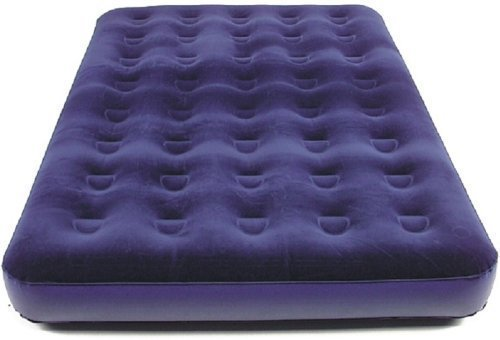 Preisvergleich Produktbild Gästebett für 2 Personen (ca. 192x134x22cm, großes Campingbett, Gästematratze) Royal-blau Velourbezug