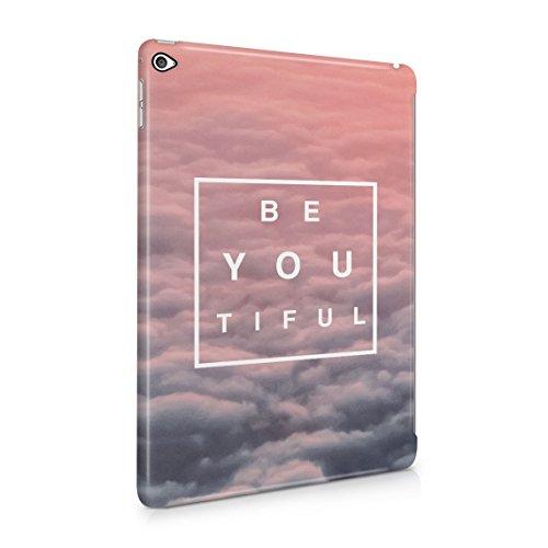 Beautiful Cute Be Youtiful Pink Clouds Tumblr Dünne Rückschale aus Hartplastik für iPad Air 2 Tablet Hülle Schutzhülle Slim Fit Case Cover River Road Matte
