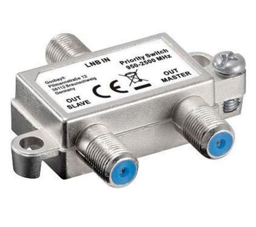 Preisvergleich Produktbild Vorrang-Schalter verteilt/schaltet 1 LNB auf 2 SAT-Receiver