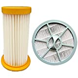 Meijunter Cartridge Filter+Round HEPA Filter Net for Philips FC826 Series, Replacement Vacuum Cleaner Dust Filter Cup HEPA Filter Mesh Kit