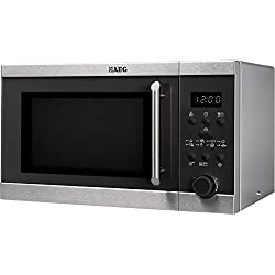 AEG MFD2025S-M Countertop 20L 800W Black,Stainless steel microwave - microwaves (Countertop, 20 L, 800 W, Buttons, Rotary, Black, Stainless steel, 1000 W)