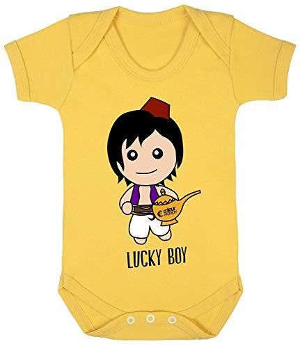 Baby Kostüm Sonnenblume - Colour Fashion Aladdin Lucky Boy Cool Druck Baby Body Kostüm Hypoallergen 100% Cotton - Sonnenblume, 6-12 Months