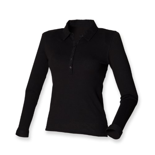 Skinni Fit Manches Longues Extensible Polo