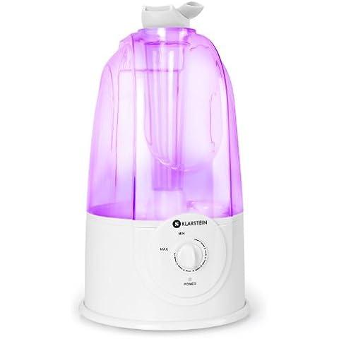 Klarstein Pure Air umidificatore d'aria vaporizzatore a ultrasuoni (capacità 3,5 litri, 30W, basso consumo energetico, design moderno, funzionamento silenzioso, vapore freddo) - viola