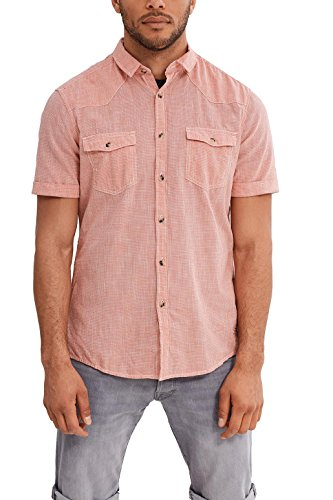 edc by Esprit 047cc2f007, Chemise Casual Homme Orange (Red Orange)