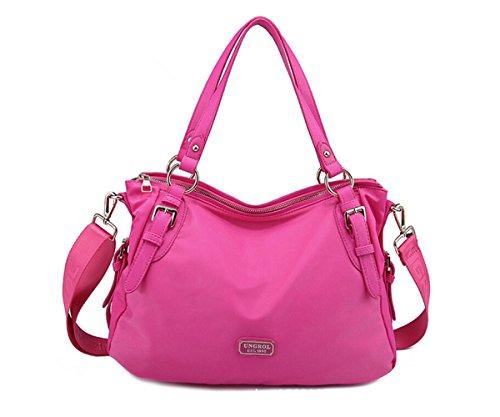 Tiny-Wasserabweisendes Damen Nylon Handtasche Classic Tote Schultertasche Vintage Umhängetasche, Rot - Rot (Rose Red) - Größe: (Hobo Handtaschen Blue)
