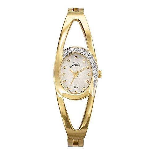 Joalia-631941-Orologio da donna con cinturino in metallo con quadrante, colore: dorato
