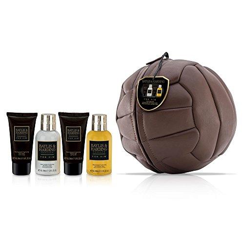 Baylis & Harding Coffret Cadeau pour Homme Soins et Bain Football, Black Pepper & Ginseng