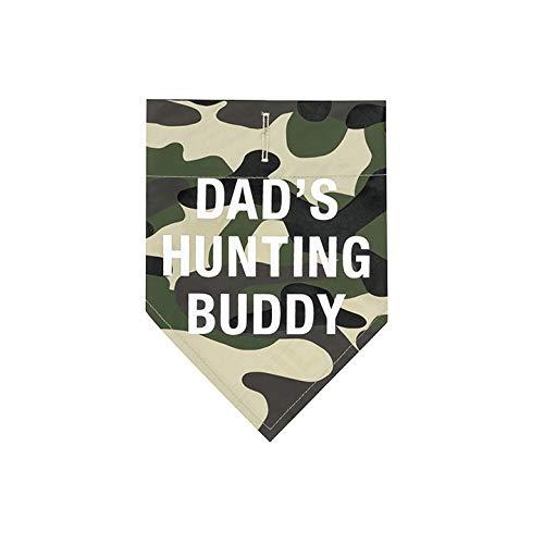 About Face Designs Hundehalstuch, Design Dad\'s Hunting Buddy Dog, Größe XL, Camouflagemuster