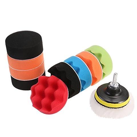 WINOMO 12pcs Polierpads Schwamm wollene Polieren wachsen Polieren Pads Kit Auto Auto mit
