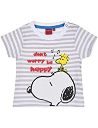 Snoopy Babies Boys Short Sleeve T-Shirt - Grey