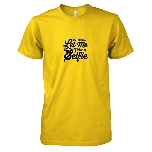 TEXLAB - Let me take a Selfie - Herren T-Shirt, Größe XXL, gelb (Instagram Selfie Kostüm)