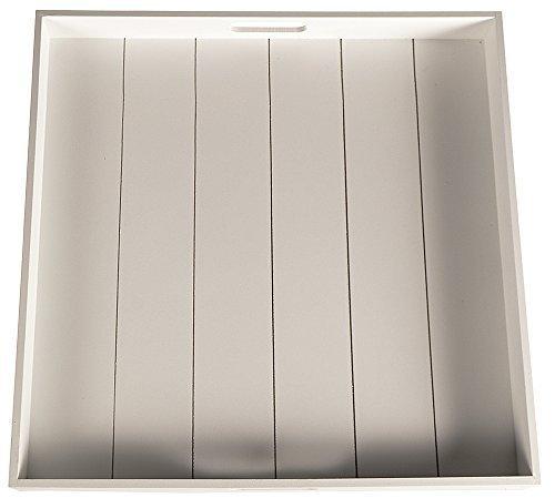 (DRULINE XXL Tablett Holztablett Kerzentablett Holz Shabby Chic Landhaus groß (Weiß))