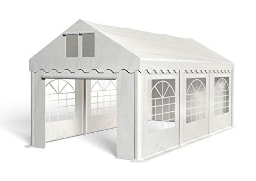 Royal Catering Cenador para Eventos Carpa de Jardin RCPT 3/6W (3x6 m, 18m², Impermeable, Resistente a la radiación UV) Blanco