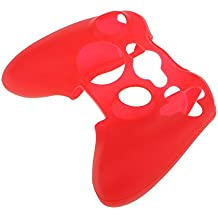 Generic Case Cover for XBOX 360 Silicone Protective Skin Game Controller - Red